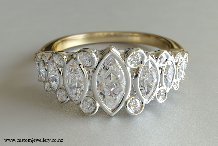 marquise cut filigree dinner ring new zealand