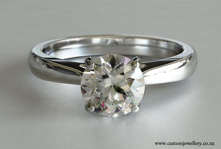 Brilliant Cut Diamond Solitaire Crossover Setting New Zealand