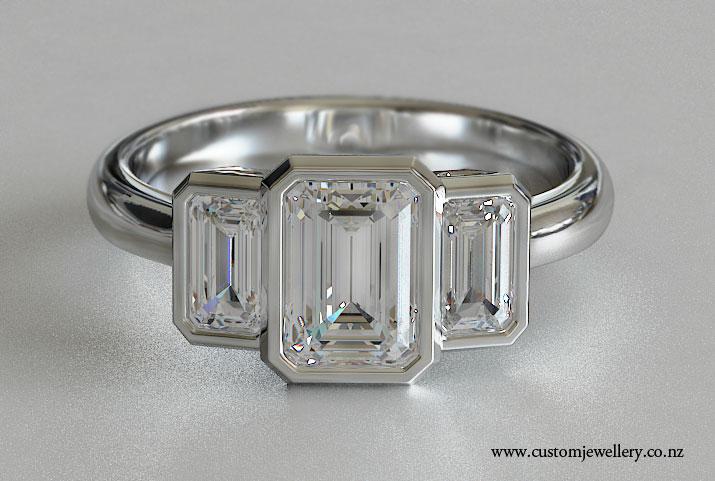 Ring Settings Emerald Ring Settings Bezel Setting
